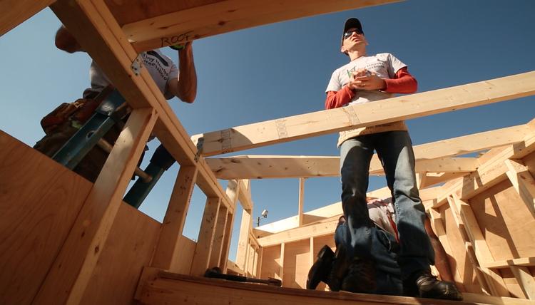 Tiny House Greensboro'scommunity build day