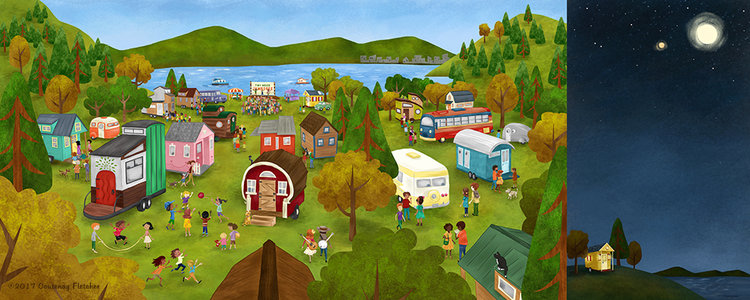 Illustration by Courtenay Fletcher from The Big Adventures of Tiny House
