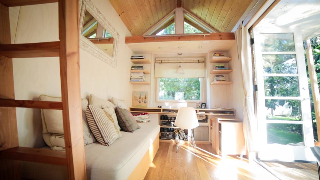 Inside Vina's Sol Haus tiny house