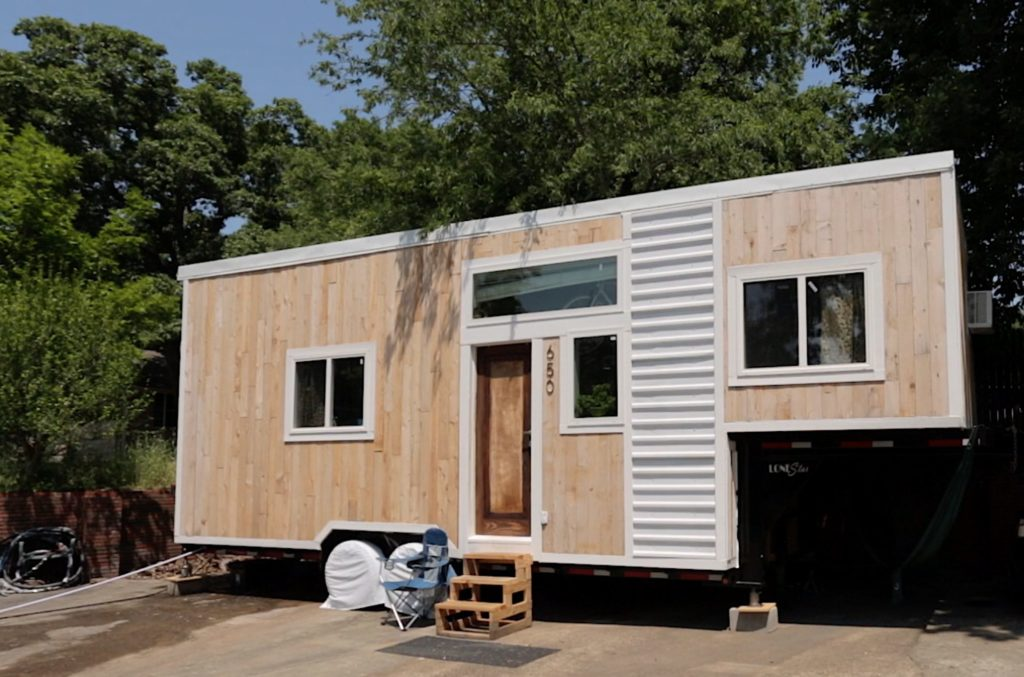 DIY tiny house built with SIPS - click to watch tour!
