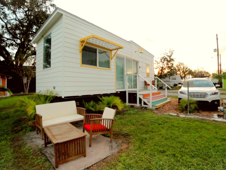 a tiny home at Orlando Lakefront