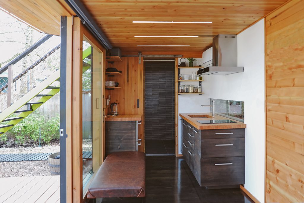Model One container home - click to see plans!