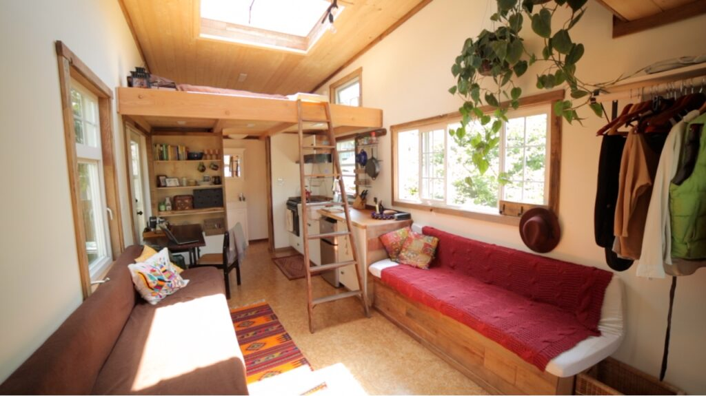 functional, attractive tiny house design - click to watch tour!