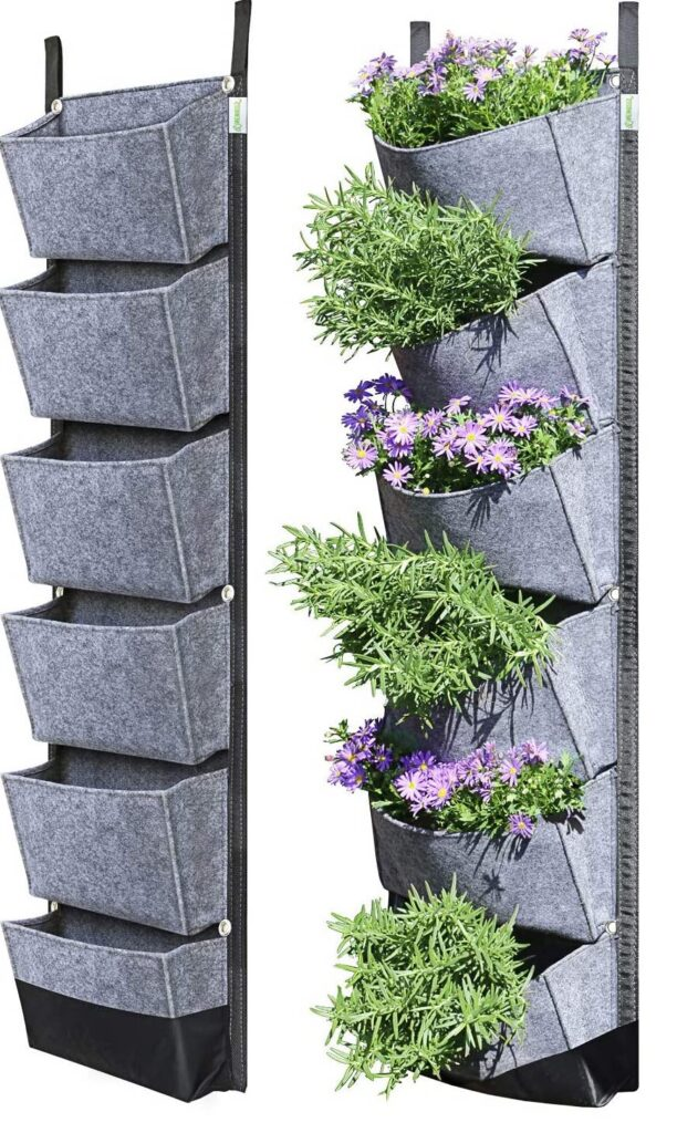 traveling tiny home dwellers vertical garden