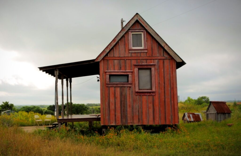 tiny houses built with salvaged materials