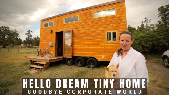 divorced woman's tiny house