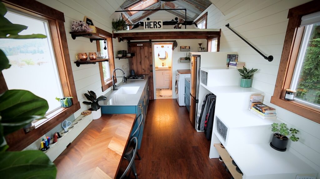 tiny house with plants