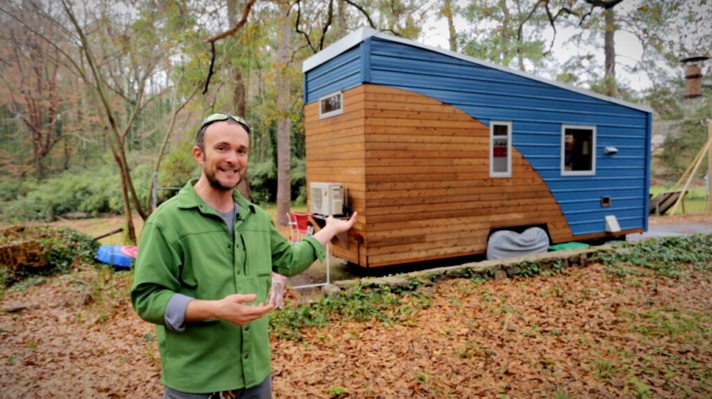 Grace and Corbett Lunsford built their tiny home, the Tiny Lab for high performance for air quality - click to watch tour!
