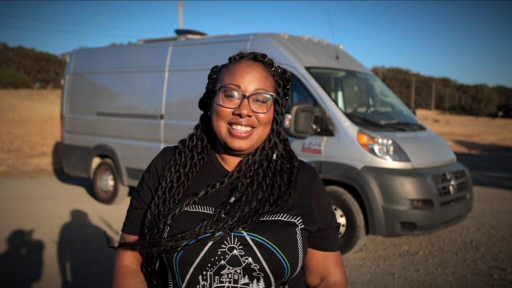 solo black woman van life