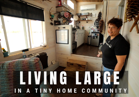 10' tiny house in community