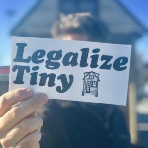 Legalize Tiny Bumper Sticker
