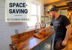Space-Saving Tiny House Kitchen Ideas