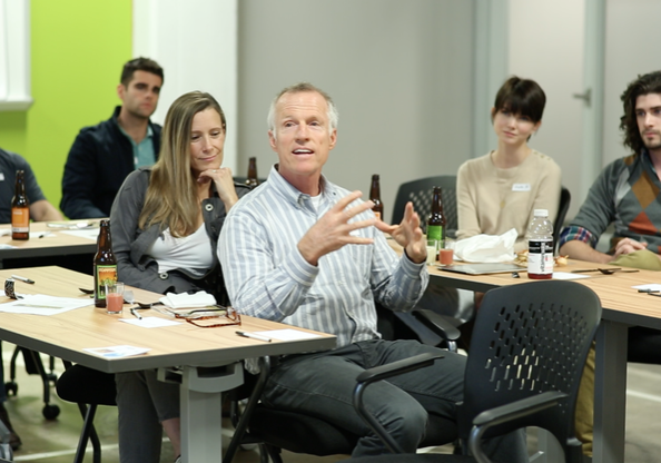 Think Big, Build Small Community Roundtable at Flywheel Cowork in Winston-Salem, NC