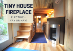 Tiny house fireplace_electric fireplace