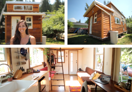 Woman Builds Tiny Home for Sustainable Affordable City Living