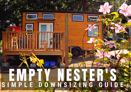 empty nester downsizing into tiny house