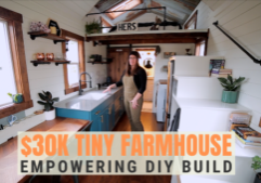 farmhouse tiny home built by woman