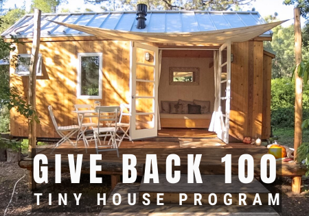 give back 100 tiny houses