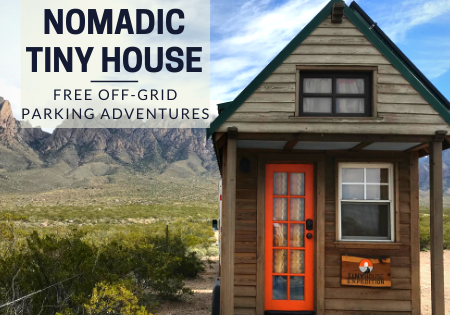 nomadic tiny house_tiny house boondocking_off grid living