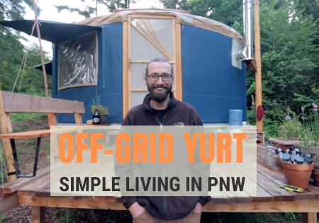 off grid yurt in pnw