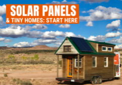 solar panels and tiny homes