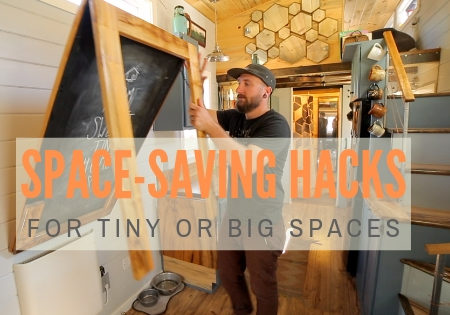 space saving hacks tiny house