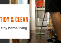 tiny home cleaning