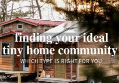 tiny home community types