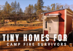 tiny homes for camp fire survivors