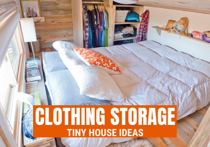 tiny house clothing storage