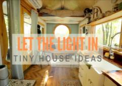 tiny house lighting and windows