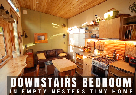 tiny house with a downstairs bedroom_empty nesters tiny home