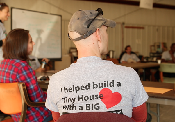 Tiny House Greensboro'scommunity build day led by Amanda Albert